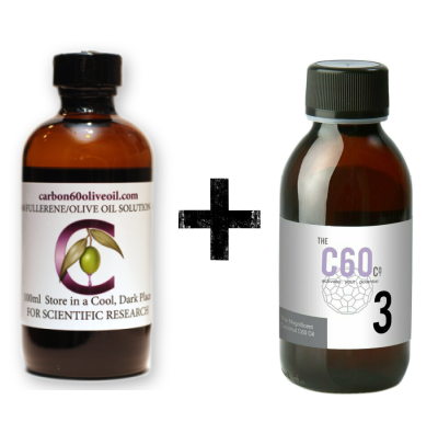 Value Pack 2: Carbon60oliveoil + No.3 C60 in Kokosolie